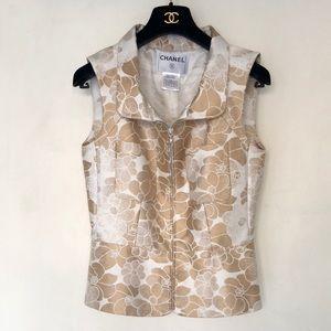 Chanel camellia vest jacket